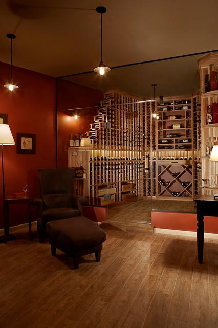 Glass Wall Wine Cellar contemporary-wine-cellar