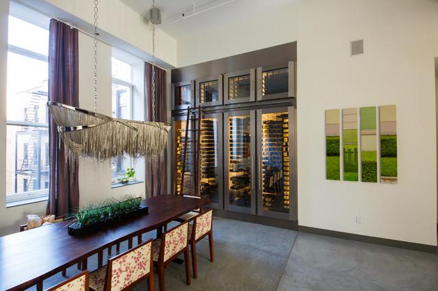 Glass WIne Cabinet Contemporary Wine Cellar