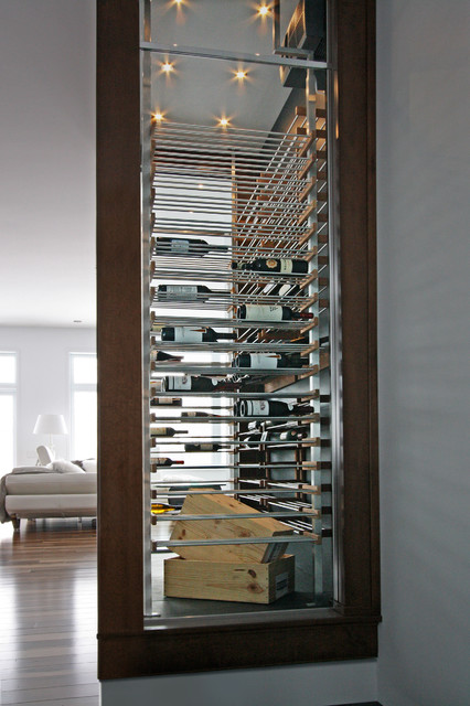 Glass wine cellar in the living room -4- - Contemporary - Wine Cellar - Miami - by Millesime ...