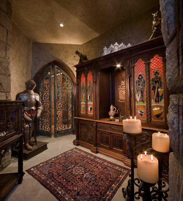 Gothic Castle In The Blue Ridge Mountains Traditional Wine Cellar By Dianne Davant And