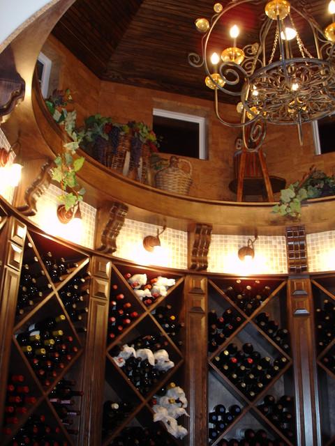 Grand Manor Residence, Sugarland contemporary-wine-cellar