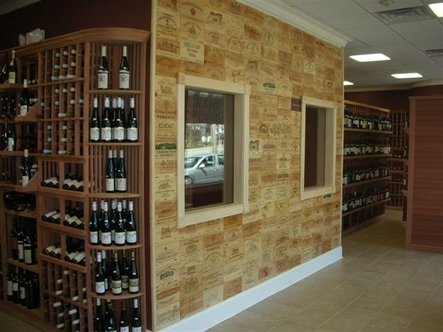 Grapes the Wine Company Wine Panel Wall modern-wine-cellar