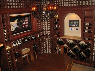 Guitar Display Home Wine Cellar Pennsylvania - Traditional - Wine Cellar - Philadelphia - by ...