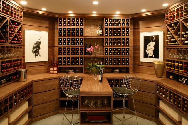 Hamptons Wine u0026 Cigar Room contemporary-wine-cellar