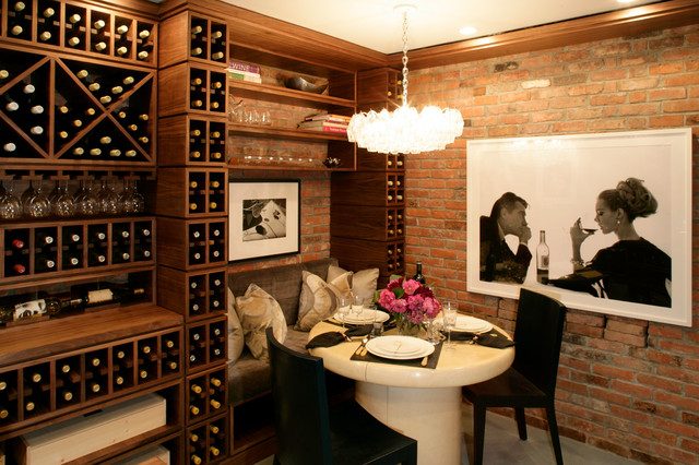 Hamptons wine cigar room for Wine room ideas