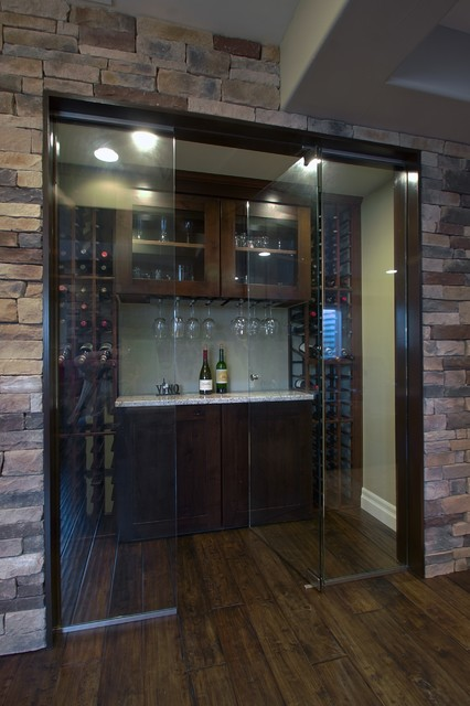 Highlands Ranch Basement Finish contemporary-wine-cellar