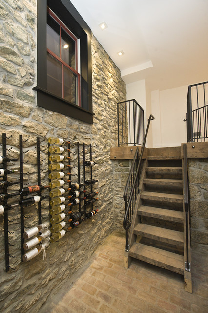 Historic Renovation in West Chester, PA traditional-wine-cellar