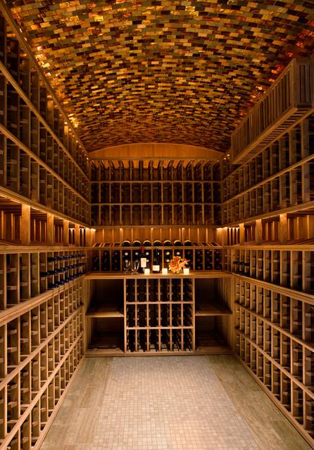 Hollywood Regency, Montecito traditional-wine-cellar