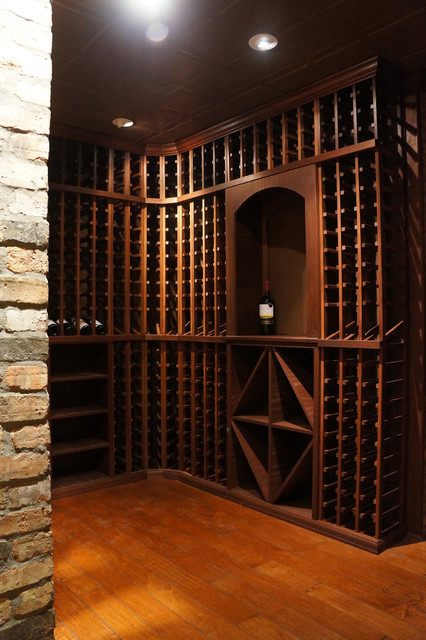 Home Front Designs Modern Wine Cellar New York By