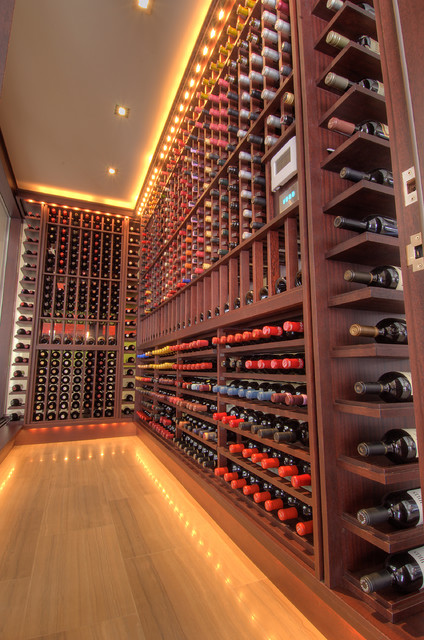 Home of the Year Award winner - Contemporary - Wine Cellar - Toronto - by London Audio Ltd