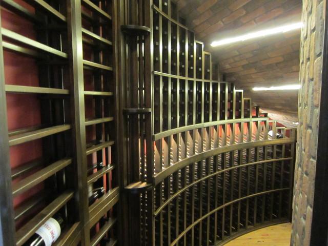Horizontal wine display racks, mini quarter round, curved racks, etc. - Traditional - Wine ...