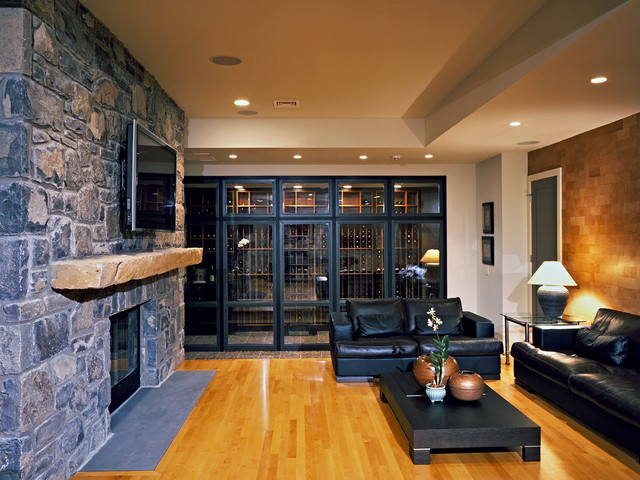 House In The Woods Wine Cellar Contemporary Wine