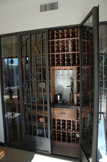 eclectic wine cellar
