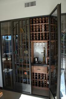 eclectic wine cellar