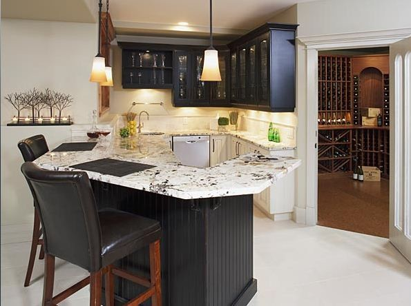 Impressive Wet Bar For Executive Home Traditional Wine