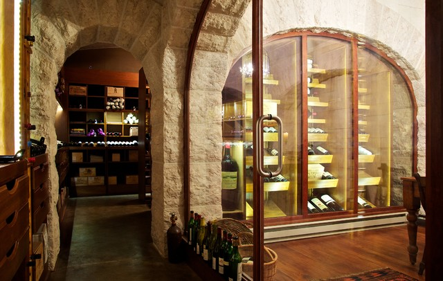 In Site Designs traditional wine cellar