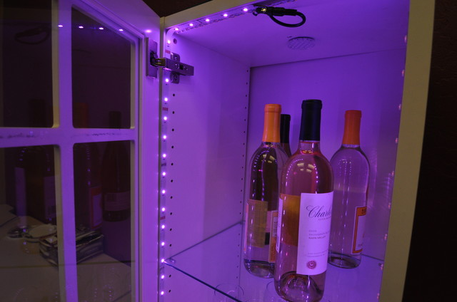 Inspired LED Color Changing RGB Inside Wine Cabinet - Contemporary - Wine Cellar - phoenix - by ...