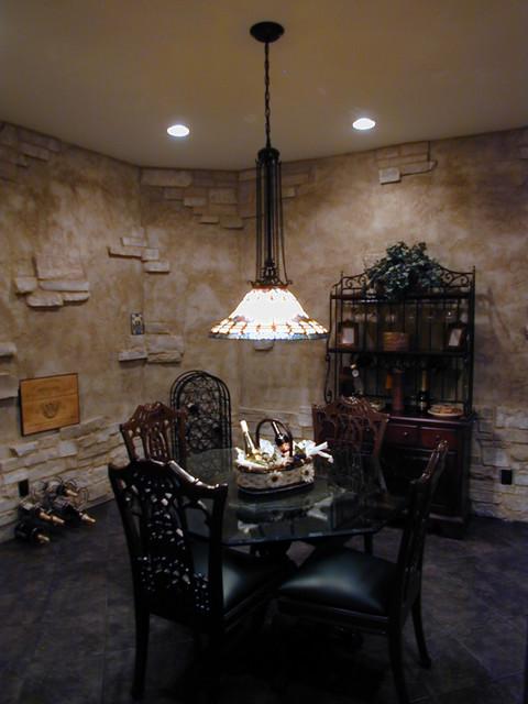 interior spaces traditional-wine-cellar
