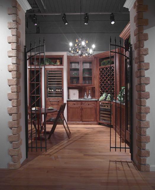 Iron gated wine grotto mediterranean wine cellar new for Wine grotto design