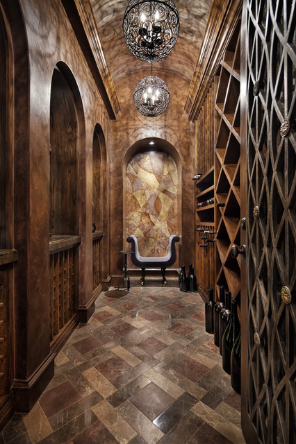 Italian Elegance  Rustic  Wine Cellar  dallas  by JAUREGUI Architecture Interiors Construction