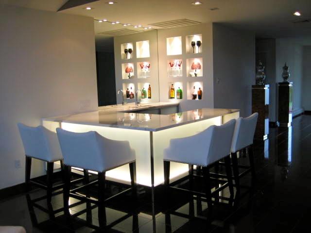Jersey shore custom bar contemporary wine cellar new york by - Residential bars ...