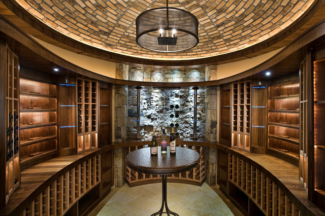 Jigsaw Ranch contemporary wine cellar