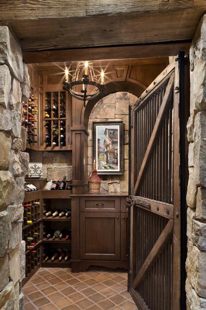 Job S Peak Ranch Residence Rustic Wine Cellar Other