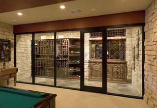 Kansas City Missouri Custom Wine Cellar Design Wine Closet Wine Room Glass Front - Contemporary ...