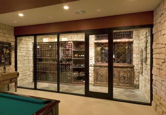 Wine Cellar with Glass Door - Mediterranean - Wine Cellar - by Vintage ...