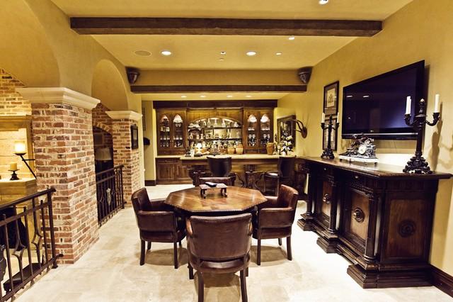 kelley hall traditional-wine-cellar
