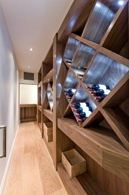 Kensington London contemporary-wine-cellar
