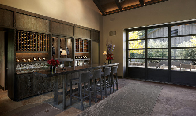 kenzo estate tasting room moderne cave vin san francisco par e c schmitt company. Black Bedroom Furniture Sets. Home Design Ideas