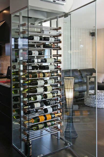 Kitchen Glass Cube Modern Kitchen Montreal By Millesime Wine Racks