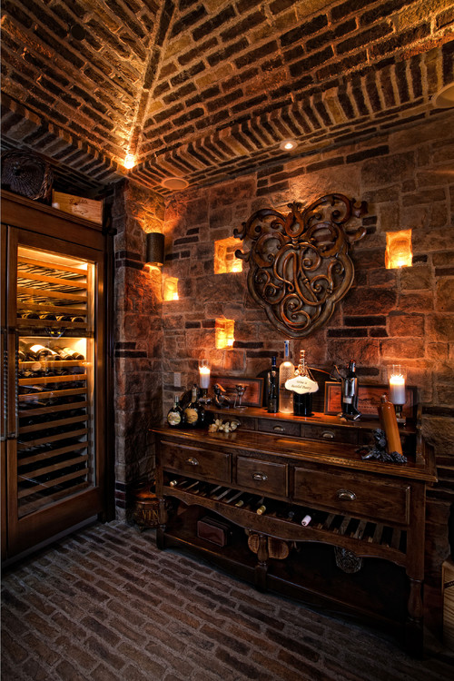 Wine room lighting Residential Wine Room For Something Little More Vintage Consider Wrought Iron Lighting Fixtures Glass Globes And Lanterns Create Spaces Within Your Walls For Irisveebme Interior Decor Ideas For The Wine Connoisseur