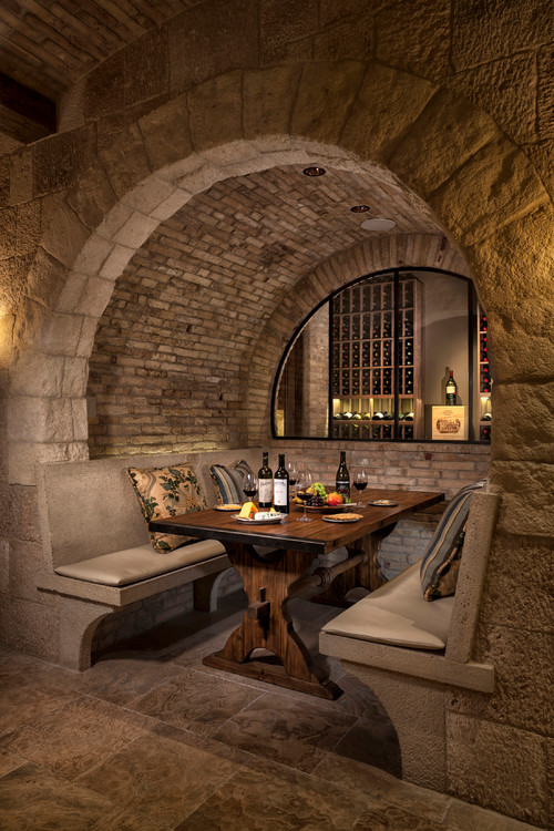 mediterranean wine cellarjpg - Wine Cellar Design Ideas
