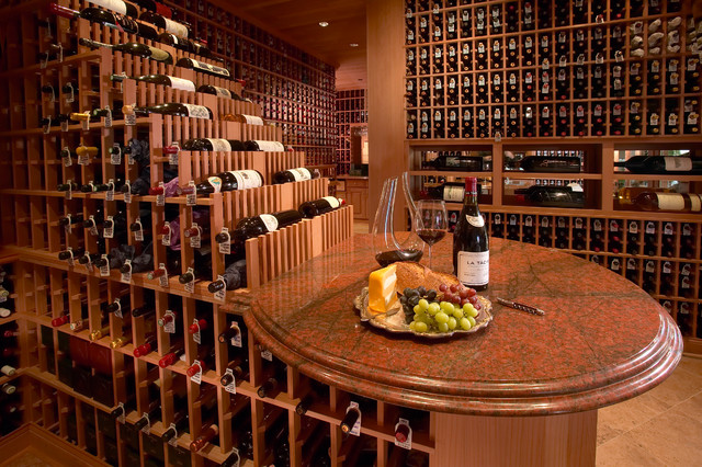 Large Traditional Beverly Hills, Los Angeles Large Walk in Custom Wine Cellar Ru - Traditional ...