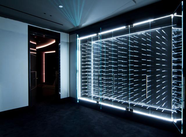 LED Illuminated Glass Enclosed Wine Cabinet - Modern - Wine Cellar -  Vancouver - by Vin de Garde Wine Cellars Inc.