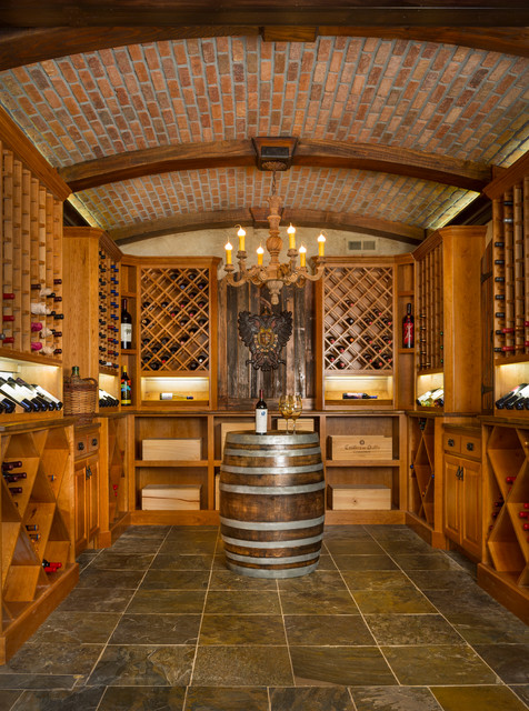 Lenexa Wine Cellar  Rustic  Wine Cellar  Kansas City  by CHC DesignBuild