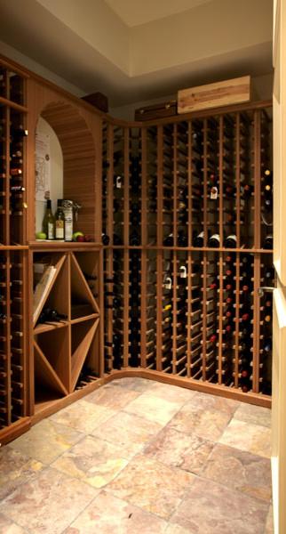 LG Construction + Development Wine Cellar contemporary-wine-cellar