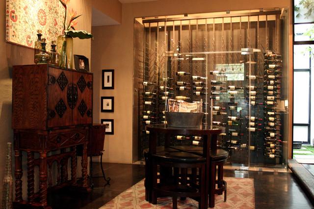 Loft Restoration eclectic-wine-cellar