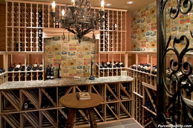 Lower Level Finish - West Lakeland traditional-wine-cellar