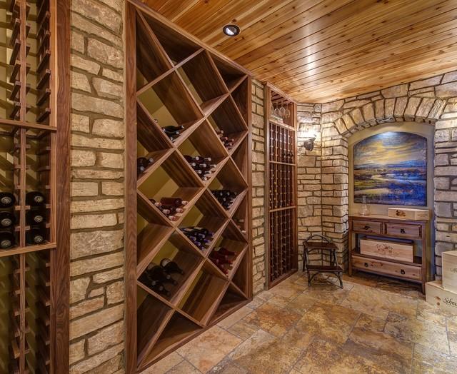 Lower Level - Wine Cellar - B traditional-wine-cellar