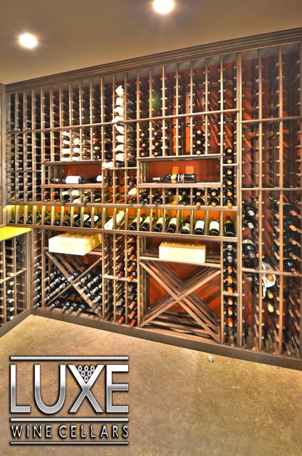 Modern Wine Cellar Seattle Luxe Wine Cellars - 1,500 bottle cellar modern-wine-cellar