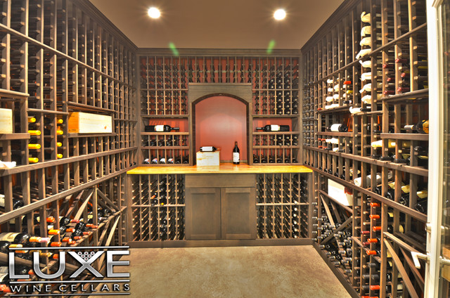 Luxe Wine Cellars - 1,500 bottle cellar traditional-wine-cellar