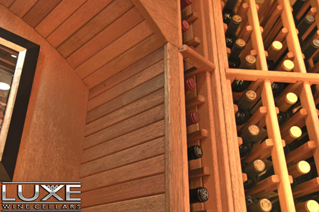 Luxe Wine Cellars - 2010 Bottle Mahogany Wine Cellar traditional-wine-cellar