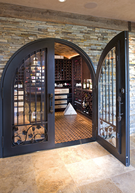 Luxurious Wine Room eclectic wine cellar