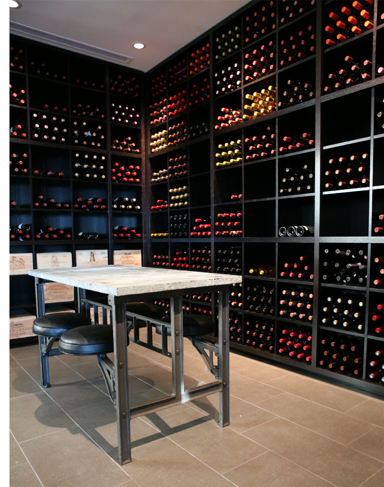 Inspiration for a modern wine cellar remodel in Phoenix