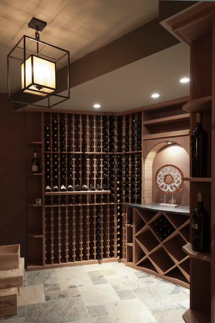 Luxury Lower Levels traditional-wine-cellar
