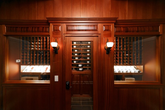 Mahogany masterpiece traditional-wine-cellar