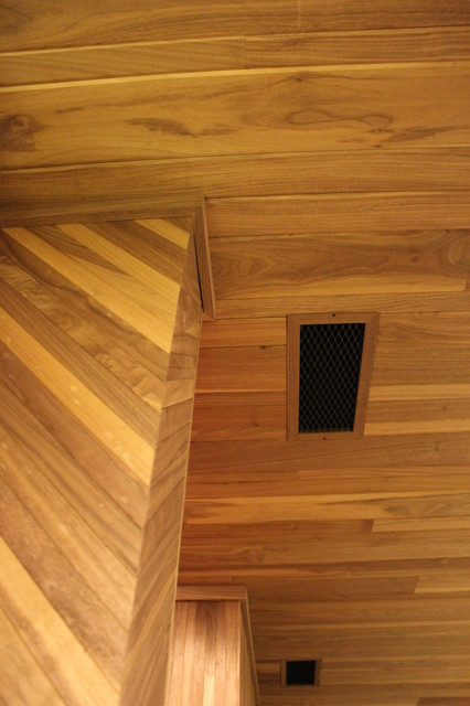 Mahogany Tongue Amp Groove Ceiling Panels Traditional